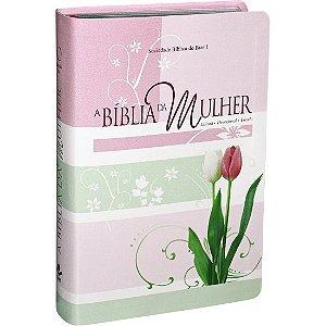 Bíblia da Mulher Tulipa Rosa