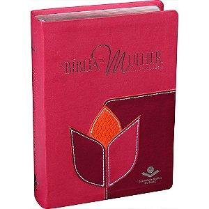 Bíblia da Mulher - Tulipa Pink, Laranja e Rosa