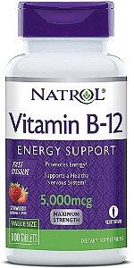 Vitamina B12 Natrol -  5mcg Sublingual  - 100 tabletes  (pronta entega)