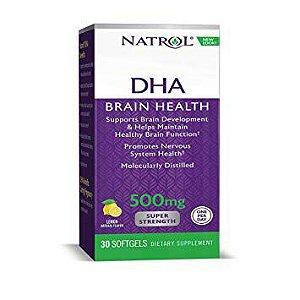 DHA 500 mg Super Resistência - Natrol - 30 Softgels-citrus
