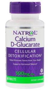 D-Glucarato de Cálcio 500 mg - Natrol - 60 Comprimidos