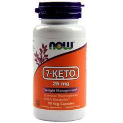 7-Keto DHEA 25 mg - Now Foods - 90 cápsulas - Frete grátis