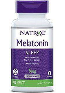 Melatonina 5 mg Liberação Gradual -  Natrol - 100 comprimidos - hormonio do sono -  Frete Gratis