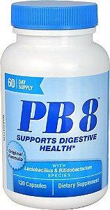 Pb8 Probiótico 14 bilhões - Now Nutrition - 120 Cápsulas (Envio Internacional)
