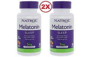 Melatonina 5 mg Fast Dissolve sublingual Sabor Morango - Natrol - 180 comprimidos -  Frete Grátis