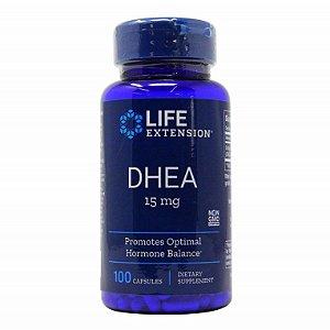15mg Dh-ea Prasterona Life Extension - 100 cápsulas