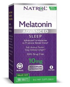 Melatonina 10 mg Liberação Rápida e Gradual -  Natrol - 100 comprimidos