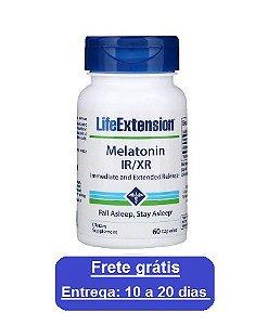 Melatonina IR/XR - Life Extension - 60 cápsulas (Envio Internacional)