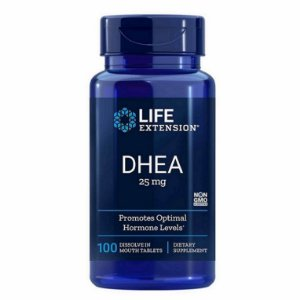 Prasterona 25 mg Sublingual -  Life Extension - Total 100 comprimidos
