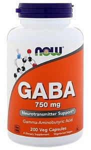 Gaba 750 mg - Now Foods - 200 cápsulas (Envio Internacional)