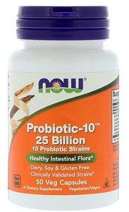 Probiótico 10 - 25 Bilhões - Now Foods - 50 Cápsulas