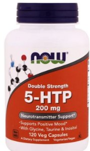 5-HTP 200 mg - Now Foods - 120 cápsulas de Double Strength