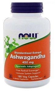 Extrato de Ashwagandha - Now Foods - 450 mg - 180 cápsulas