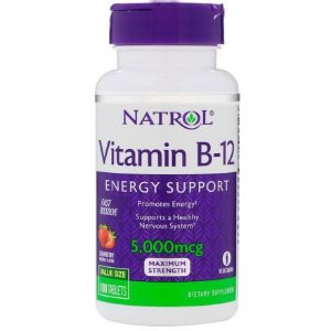 Vitamina B-12 5000 mcg Fast Dissolve - Natrol - total 100 Tablets