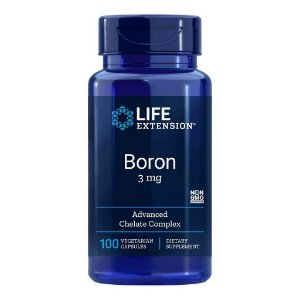 Boron 3 mg 100 Cápsulas Vegetarianas - Life Extension (PRONTA ENTREGA NO BRASIL)