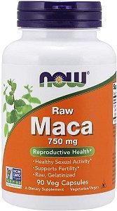 Maca Peruana Raw Crua 750 Mg - 90 Cápsulas -  Now Foods (pronta entrega)