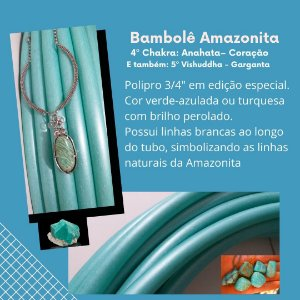 """Bambolê de Polipro 3/4"""" Pedras Preciosas"""