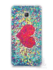 Capa Samsung Gran Prime Coração Pintura
