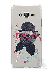 Capa Samsung Gran Prime Cachorro Pug Estiloso #1