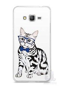 Capa Samsung Gran Prime Gato Estiloso