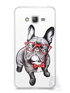 Capa Samsung Gran Prime Cachorro Bulldog Francês Estiloso