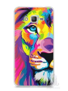 Capa Samsung Gran Prime Leão Colorido #1