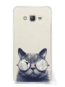 Capa Samsung Gran Prime Gato com Óculos