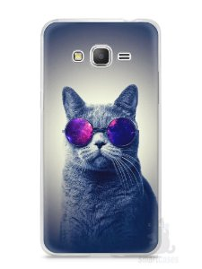 Capa Samsung Gran Prime Gato Galáxia #2