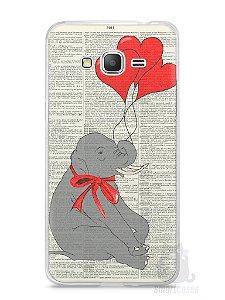 Capa Samsung Gran Prime Elefante e Corações