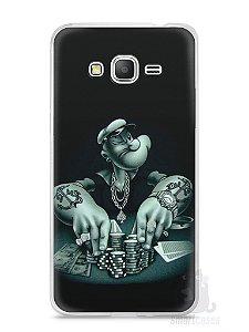 Capa Samsung Gran Prime Popeye Jogando Poker