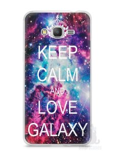 Capa Samsung Gran Prime Keep Calm and Love Galaxy
