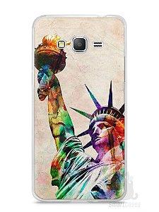 Capa Samsung Gran Prime Estátua da Liberdade Colorida