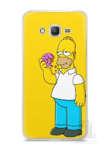 Capa Samsung Gran Prime Homer Simpson Comendo Donut