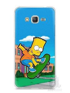 Capa Samsung Gran Prime Bart Simpson Skate