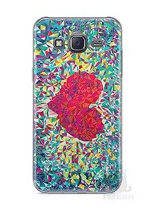 Capa Samsung J5 Coração Pintura