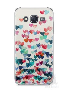 Capa Samsung J5 Corações Coloridos
