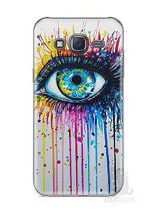 Capa Samsung J5 Olho Pintura
