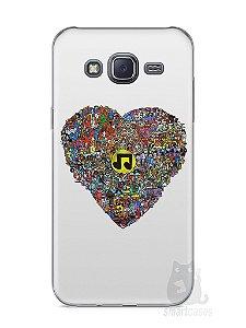 Capa Samsung J5 Coração Personagens
