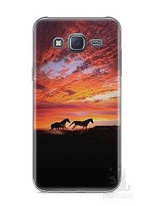 Capa Samsung J5 Cavalos #1