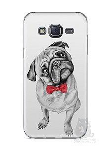 Capa Samsung J5 Cachorro Pug Estiloso #2