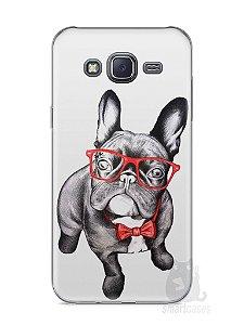 Capa Samsung J5 Cachorro Bulldog Francês Estiloso