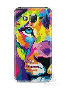 Capa Samsung J5 Leão Colorido #1