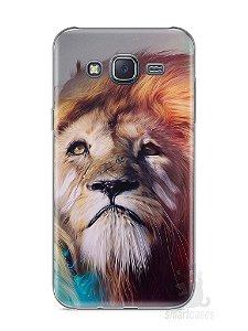 Capa Samsung J5 Leão Pintura
