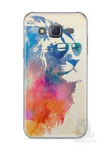 Capa Samsung J5 Leão Colorido #2