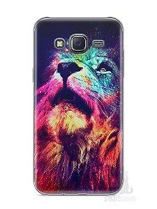 Capa Samsung J5 Leão Colorido #3