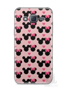 Capa Samsung J5 Mickey e Minnie