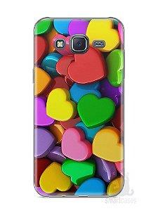 Capa Samsung J5 Corações