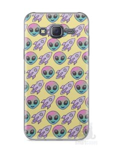 Capa Samsung J5 Aliens e Foguetes