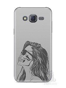 Capa Samsung J5 Mulher Caveira