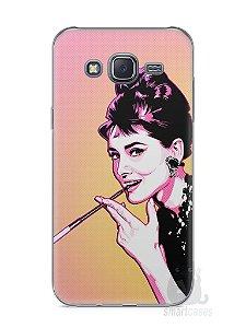 Capa Capinha Samsung J5 Audrey Hepburn #2
